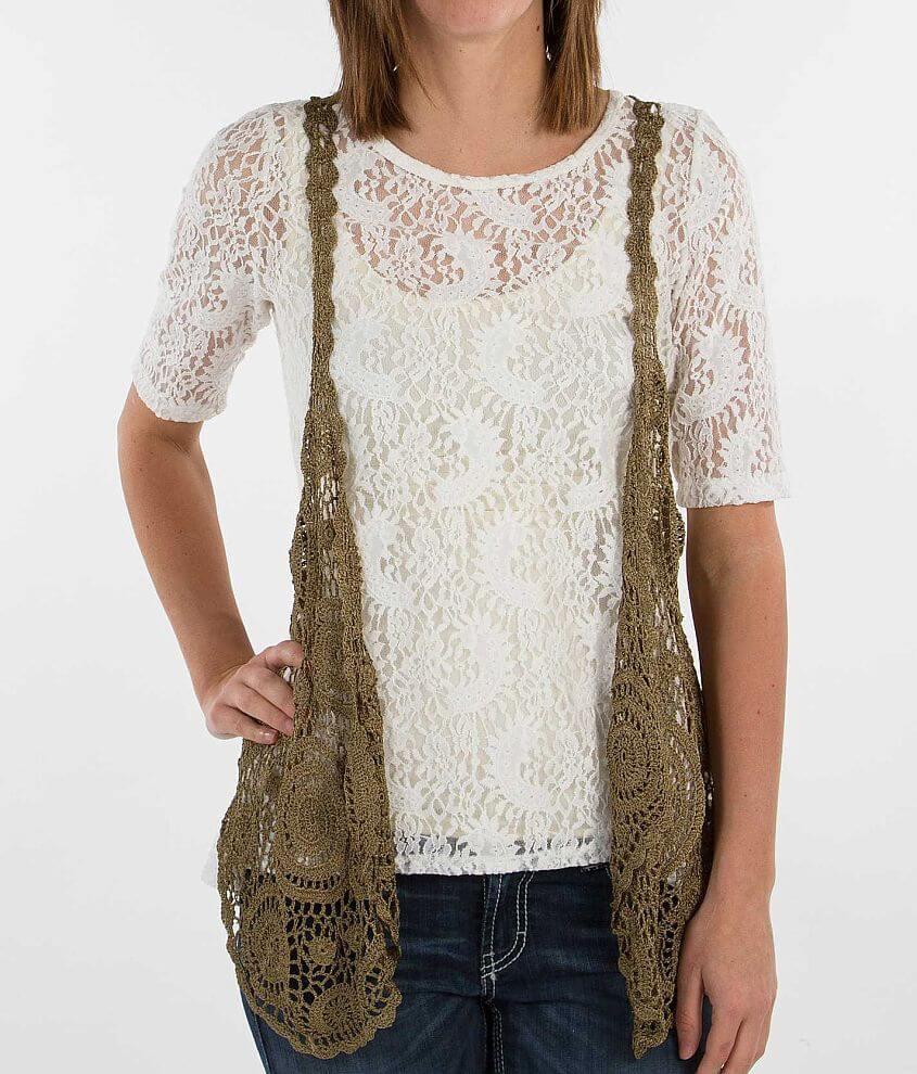 Daytrip Crochet Vest front view