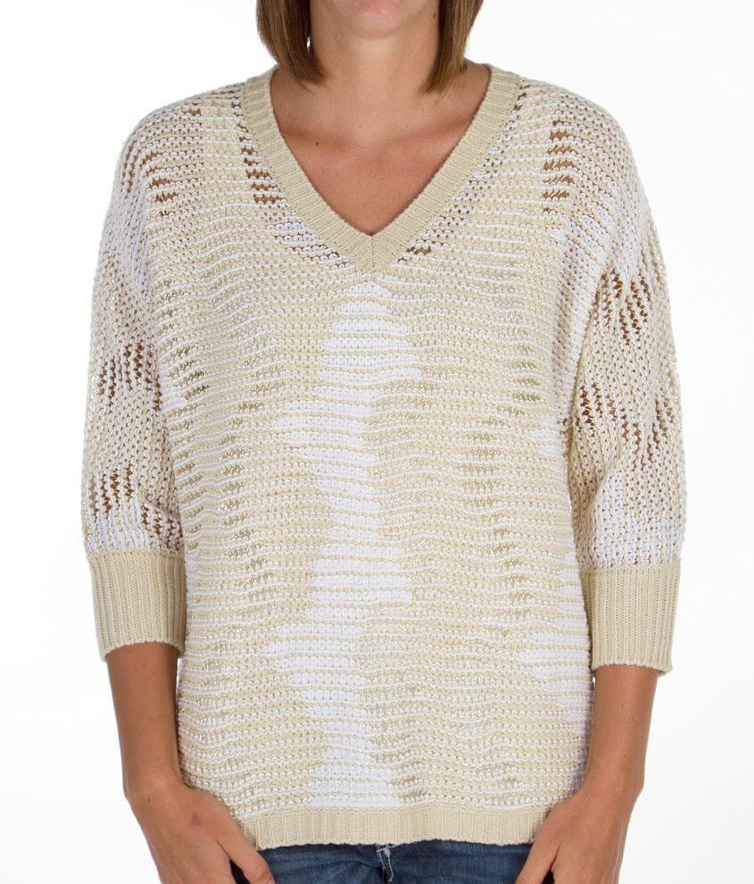 Daytrip Metallic Thread Sweater front view