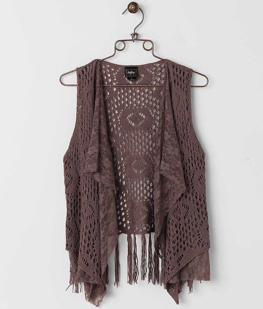 Daytrip Crochet Sweater Vest front view
