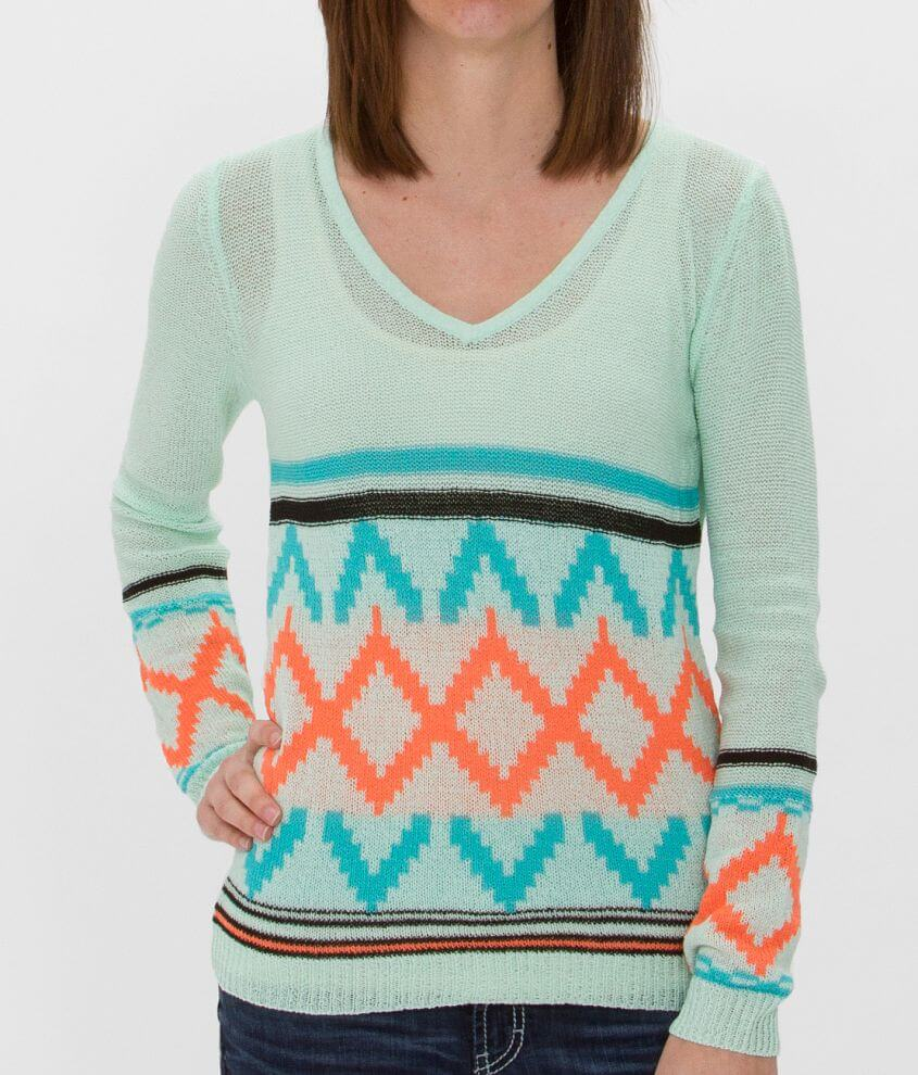 Daytrip Southwestern Sweater front view