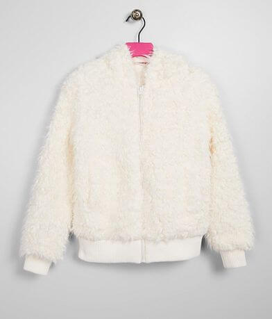 Girls- Daytrip Faux Fur Hooded Jacket