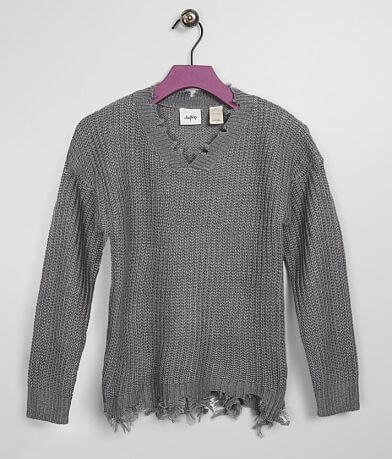 Girls - Daytrip Shredded V-Neck Sweater