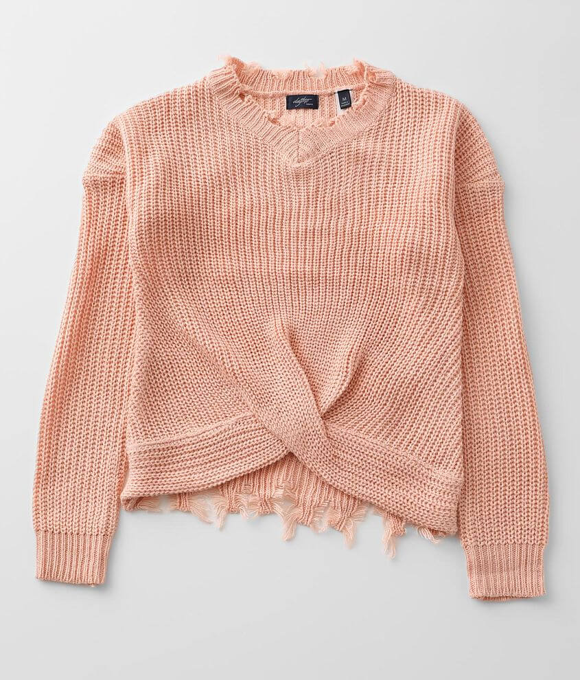 Girls - Daytrip Distressed Sweater front view