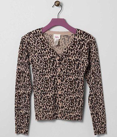Girls - Daytrip Cheetah Print Cardigan Sweater