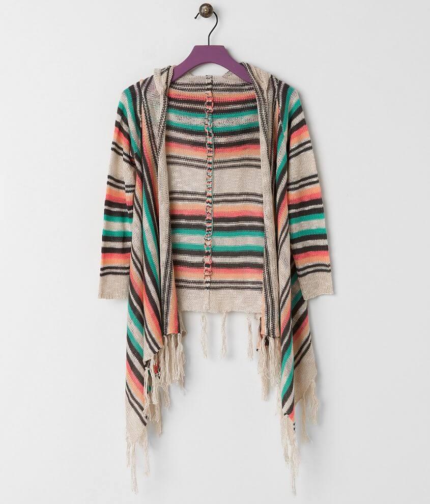 Girls - Daytrip Striped Cardigan Sweater front view