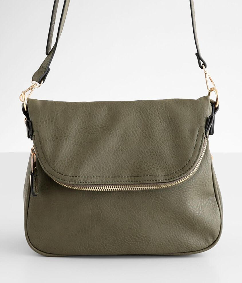 Moda Luxe Distressed Crossbody Purse front view