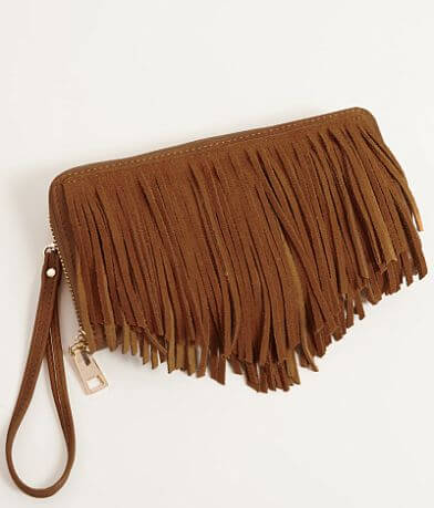 Moda Luxe Leather Fringe Wallet
