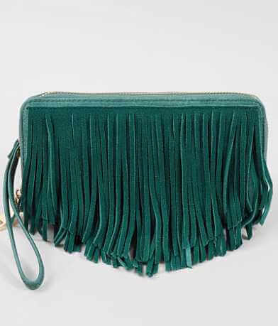 Moda Luxe Leather Fringe Wallet