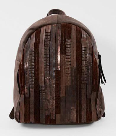 Moda Luxe Fiona Pleated Metallic Backpack