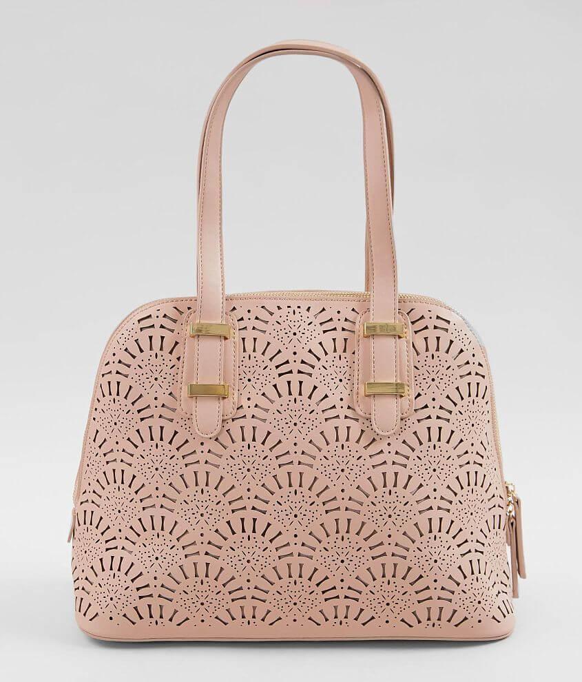 Moda Luxe Alondra Perforated Satchel Purse