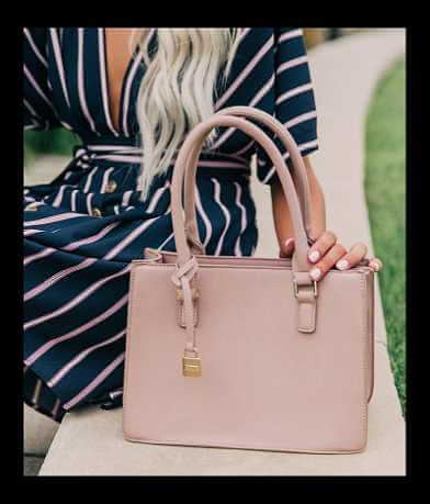 Moda Luxe Structured Crossbody Purse