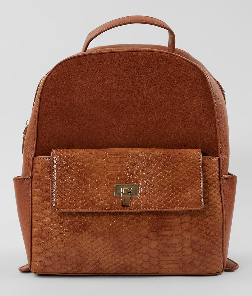 Moda Luxe Pieced Suede Backpack front view
