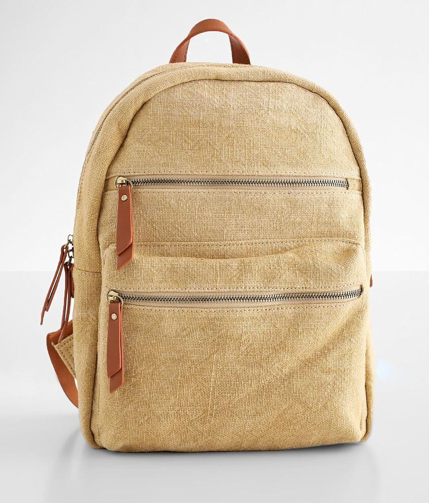 Moda Luxe Panama Canvas Backpack front view