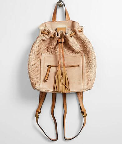 Moda Luxe Weaved Leather Cinch Tie Backpack