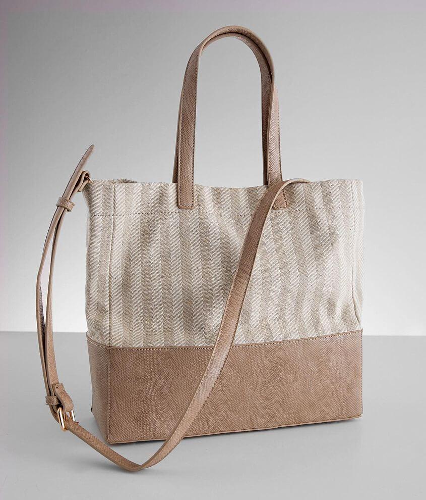 Moda Luxe Ingrid Herringbone Purse front view