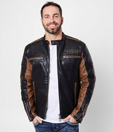 American Fighter Density Faux Leather Jacket