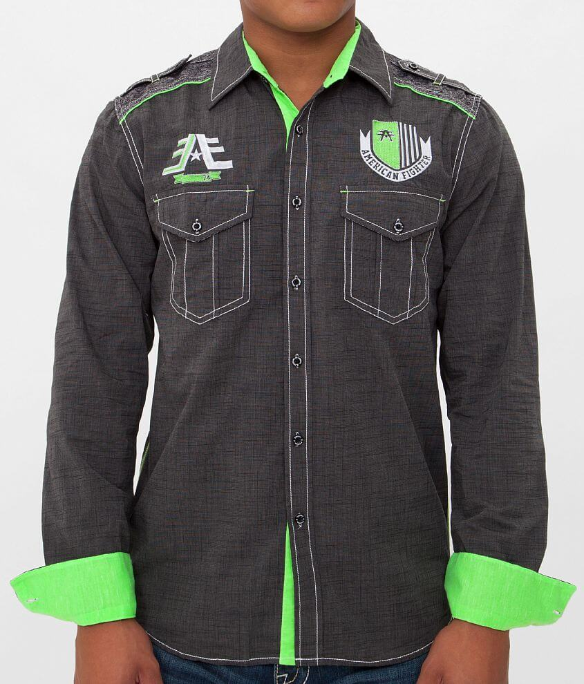 American Fighter Zone Run Shirt front view