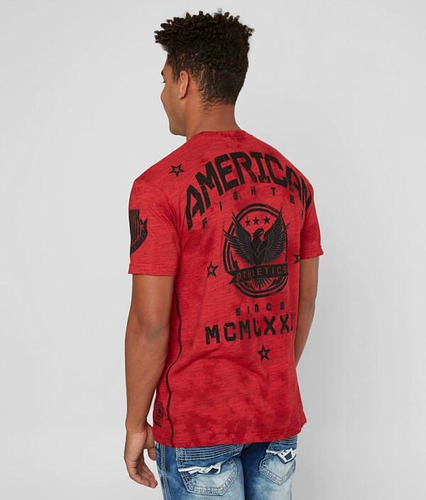 T Capital Fighter American American Shirt Fighter nayZSqYU6c