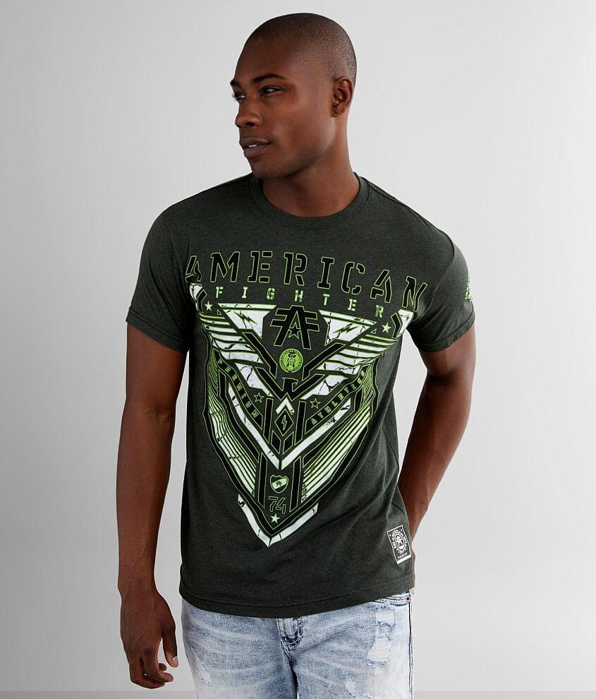 Graphic heathered t-shirt Sleeve hit Model Info: Height: 6\\\' Chest: 38 1/2\\\