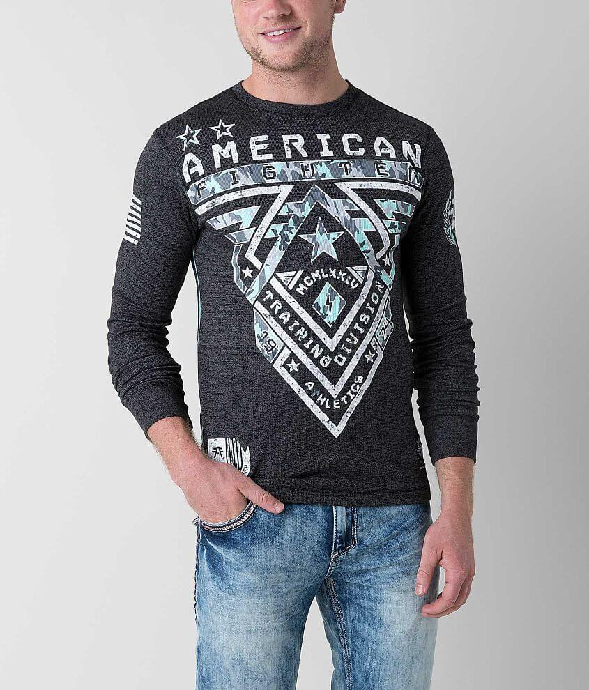 American Fighter Crossroads Camo Thermal Shirt front view