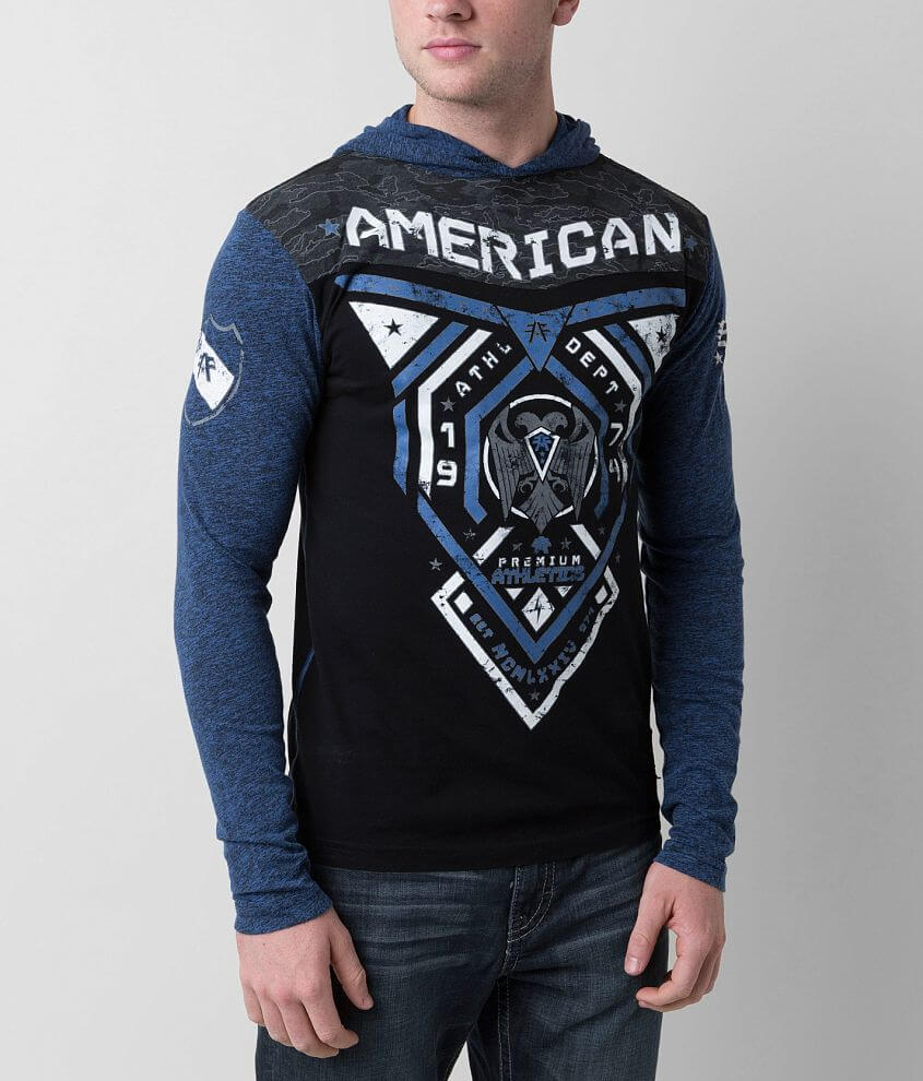 American Fighter Blue Mountain Hoodie front view