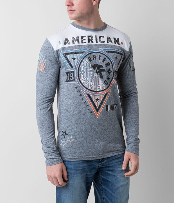 T American Fighter Shirt Siena Heights tnwAwO7zZq