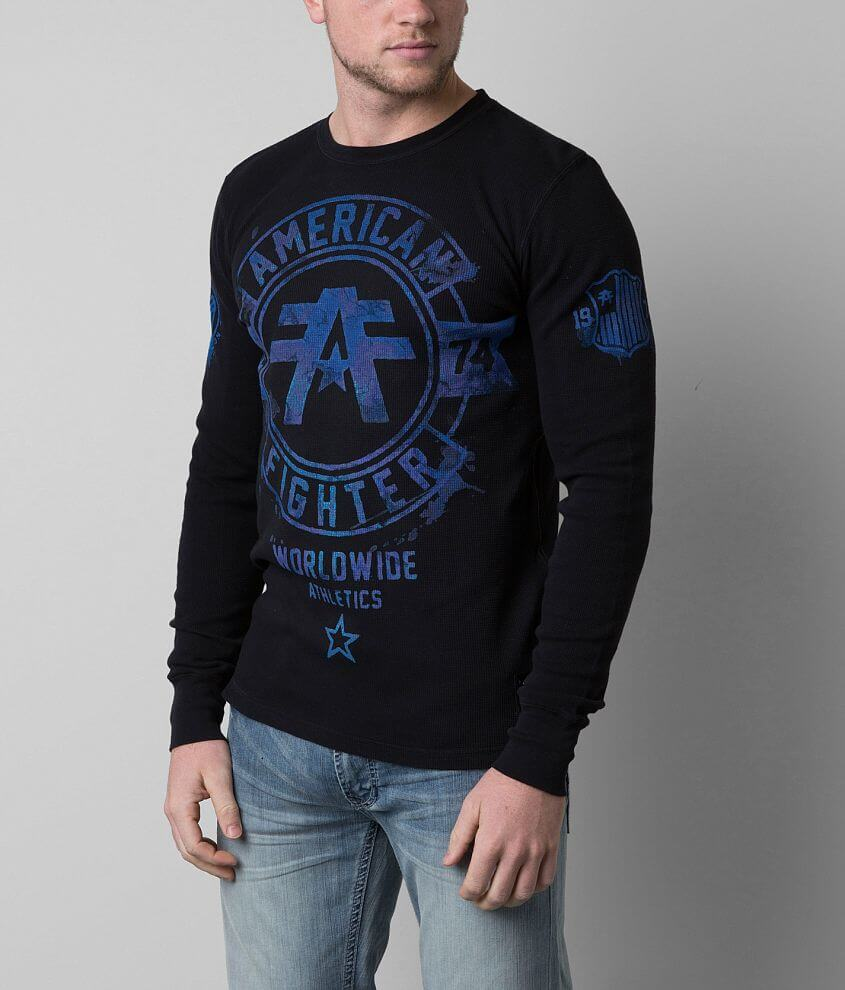 American Fighter Silver Lake Thermal Shirt front view