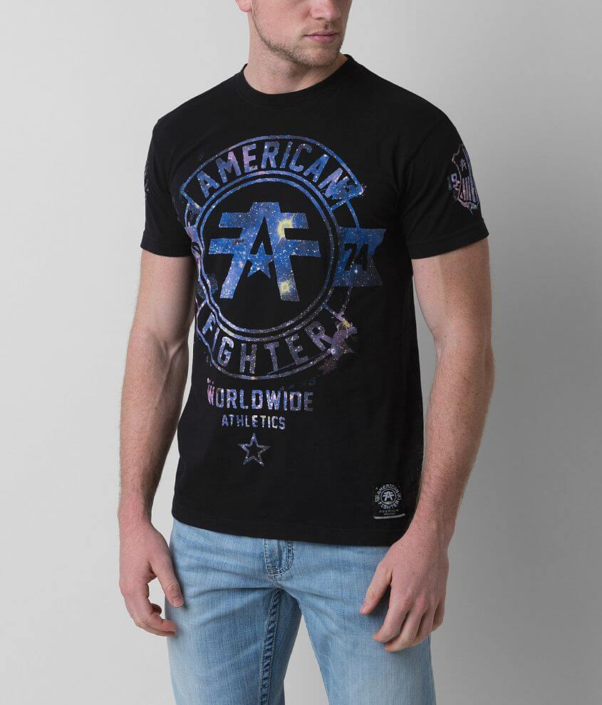 American Fighter Silver Lake Galaxy T-Shirt front view