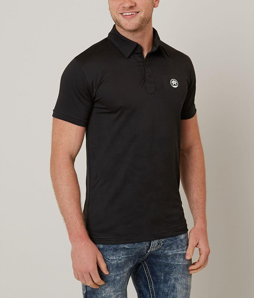 American Fighter Kean Jacquard Hydrocore Polo front view