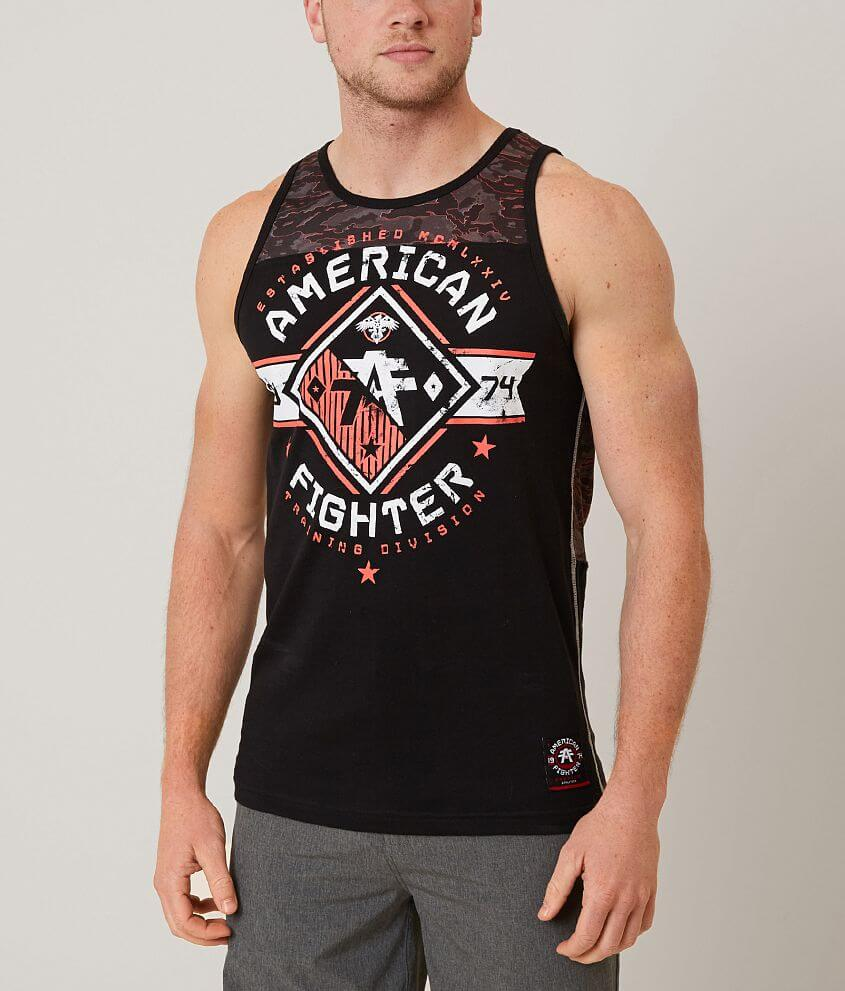American Fighter Massachusetts Tank Top front view