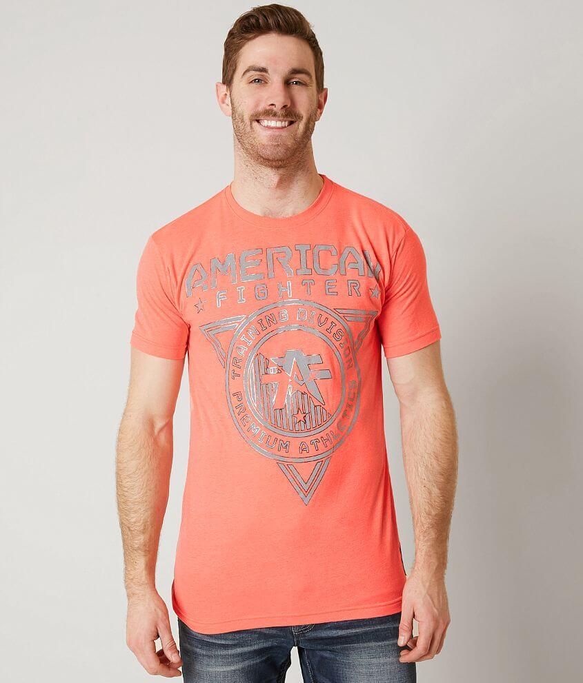 Men Affliction T-shirts Herzing Graphic Grey Size M
