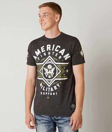 American Fighter Military Support T-Shirt