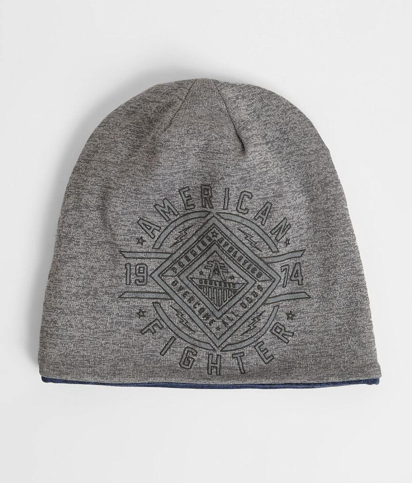 Style FM6426/Sku 945762 Graphic reversible beanie Solid on reverse One size fits most