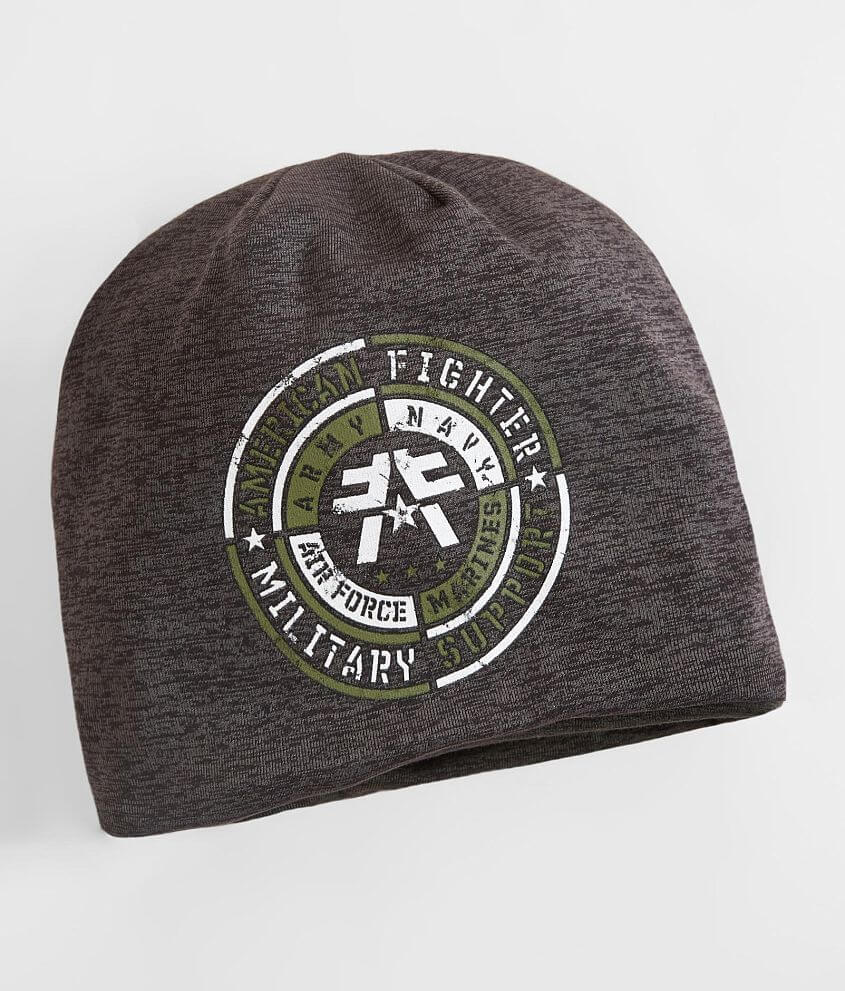 Style FM6427/Sku 945763 Graphic reversible beanie Graphic on reverse One size fits most 10% of the proceeds from the sale of this garment goes to benefit the heroes that protect our lives and rights.
