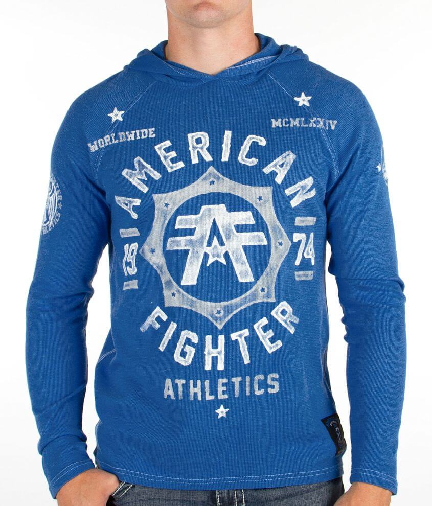 American Fighter North Carolina Thermal Hoodie front view