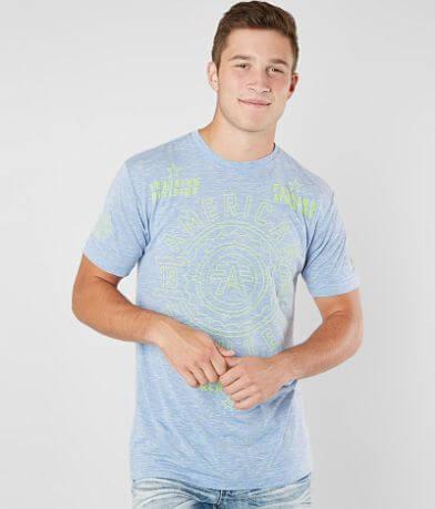AMERICAN FIGHTER Galveston FM7762 Men`s Teal T-shirt By Affliction