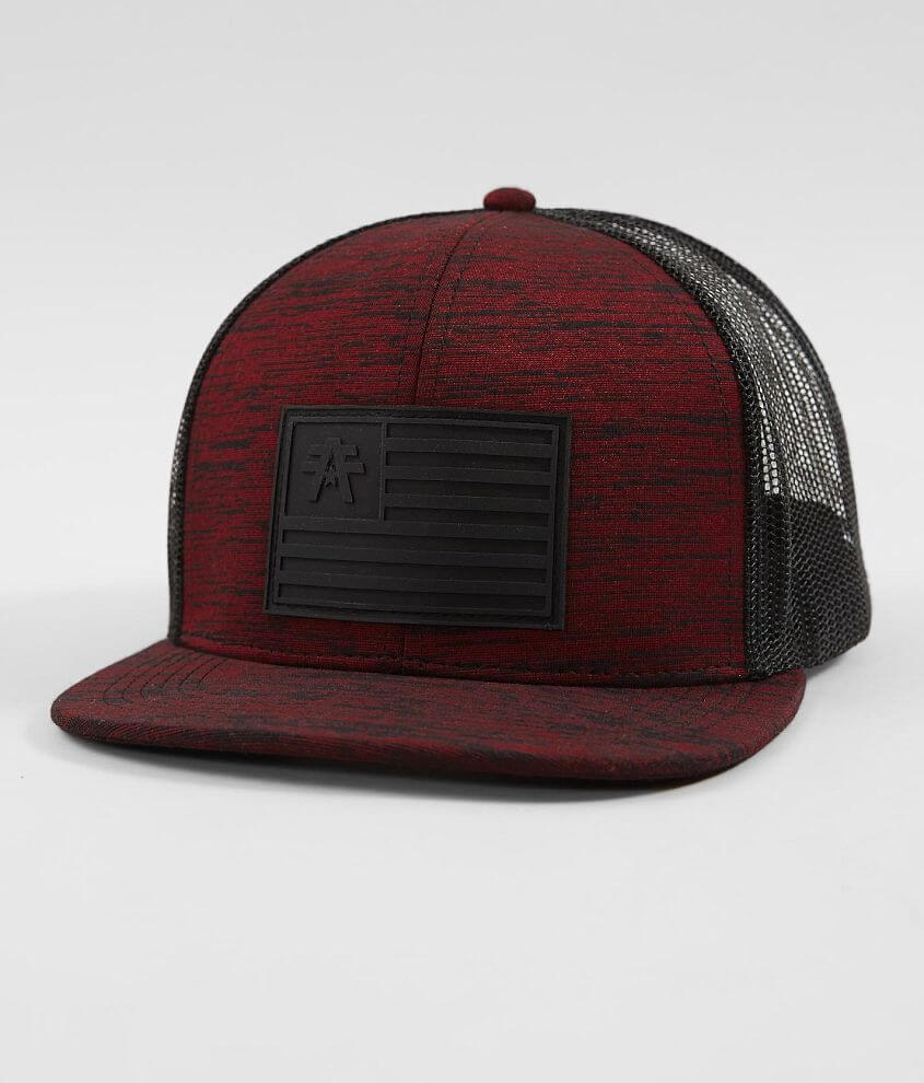 6074ef7e3d1 American Fighter Garvin Trucker Hat - Men s Hats in Rusted Red Black ...