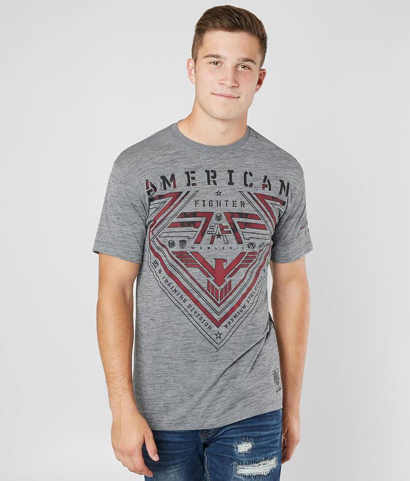 American Fighter Mens Galesville Tee Shirt Heather Gray
