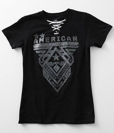 American Fighter Crossroads Split Neck T-Shirt