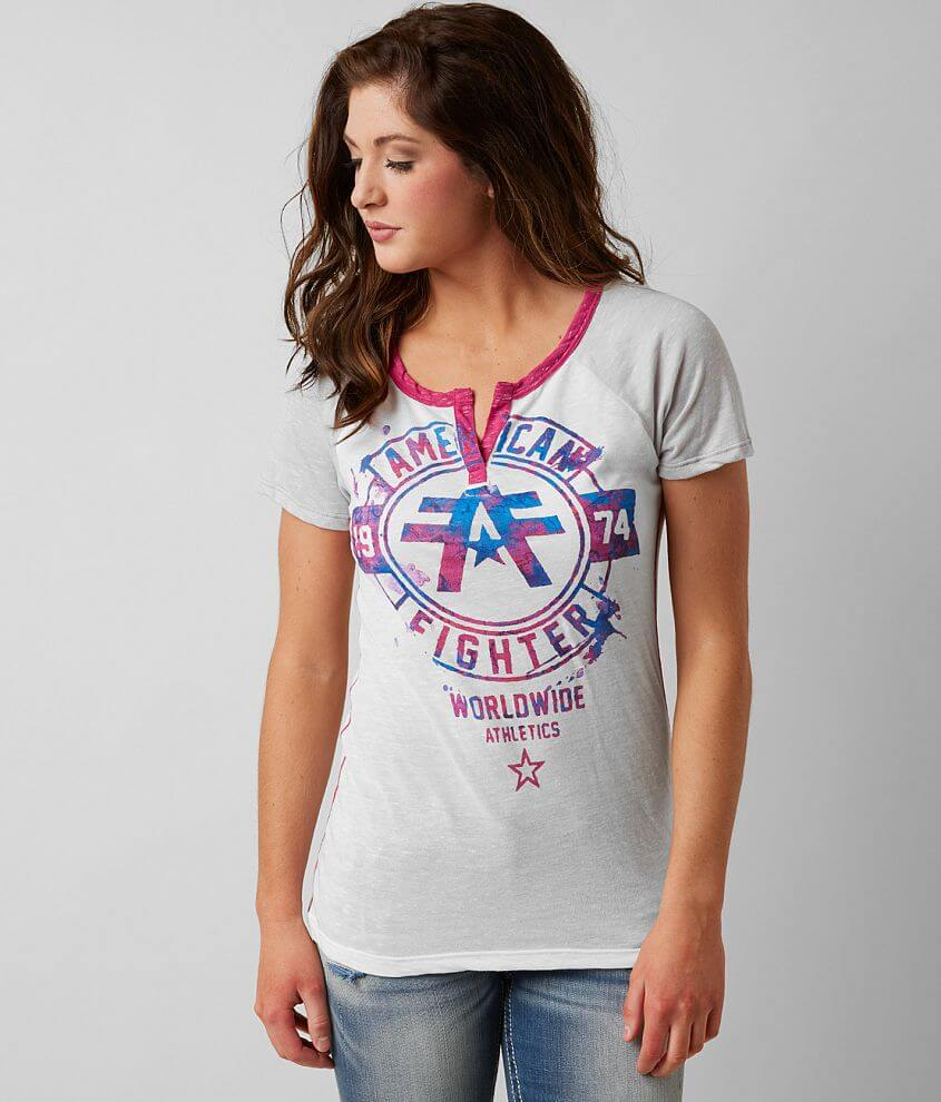 American Fighter Silver Lake Watercolor T-Shirt front view