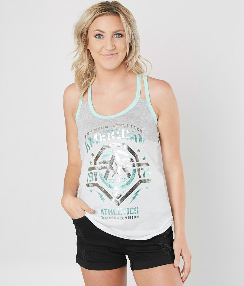 ff8723c37 American Fighter New Mexico Tank Top - Women's Tank Tops in White Heather  Grey Mint | Buckle