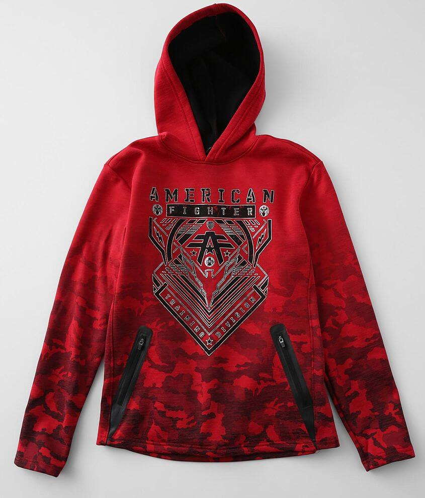 Boys - American Fighter Wardell Hooded Sweatshirt front view
