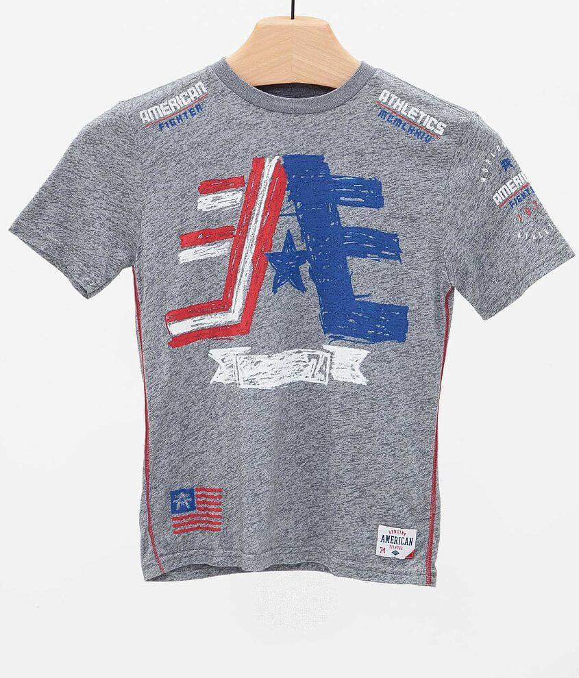 Boys - American Fighter Cornerstone Sketch T-Shirt front view