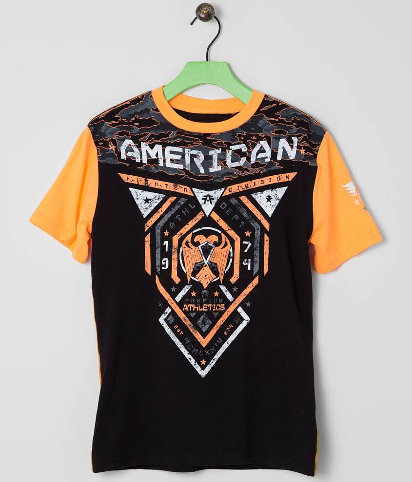 Boys - American Fighter Blue Mountain T-Shirt front view