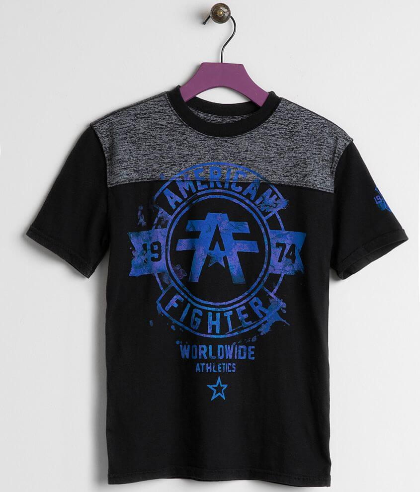 Boys - American Fighter Silver Lake T-Shirt front view