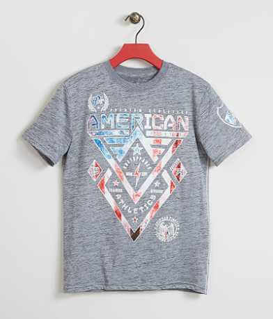 Boys - American Fighter Alaska Patriot T-Shirt