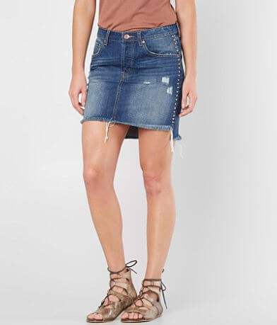 Band Of Gypsies Ella Studded Denim Skirt