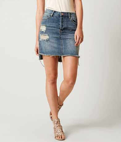 Band of Gypsies Ella Step Denim Skirt
