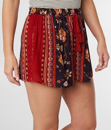 Band Of Gypsies Floral Woven Short