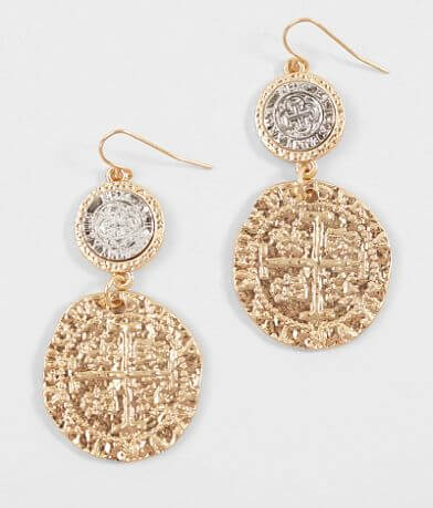BKE Embossed Coin Earring